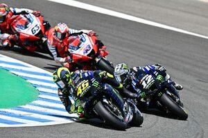 ヤマハのロッシ「本当に長い戦いだった。表彰台は最高の気分」/MotoGP第3戦アンダルシアGP決勝コメント