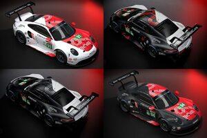 ポルシェ、ル・マン24時間バーチャルに投入する『911 RSR』のカラーリングを公開