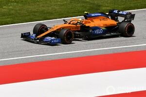 「レーシングポイントの前で終えられるとは……」オーストリアGP予選4番手のノリス、結果は予想外