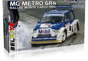 青島文化教材社、英国生まれの自然吸気ミッドシップラリーカー『1/24ベルキット MG METRO 6R4』新2製品リリース
