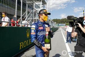 「言葉にできない、本当に嬉しい!」F1初表彰台を獲得のランド・ノリス、喜び爆発