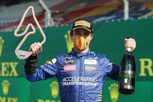 マクラーレンF1のノリスが初表彰台獲得「ミスを抑え、巡ってきたチャンスをすべて生かした」:オーストリアGP