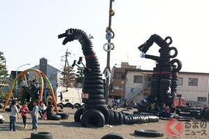 「タイヤ公園」のタイヤはどこからくる? 全国にあるタイヤ遊具の謎に迫る!