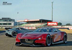 マツダ、「グランツーリスモSPORT」にバーチャルレースカー「MAZDA RX-VISION GT3 CONCEPT」のオンライン提供を開始