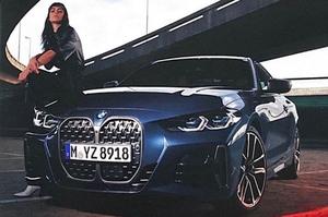 【流出】BMW 4シリーズ新型 公式発表の前に、外観がリーク 大きなキドニー・グリル採用へ
