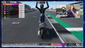 ロレンソ、ワイルドカードで優勝飾る。序盤にトップ走行した中上は4位/MotoGPバーチャルレース第5戦