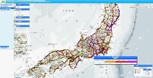 日本気象協会、物流向けに新サービス 悪天候時の高速道路 輸送影響を地図表示