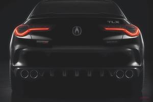 【タイプSの新時代へ】アキュラTLXタイプSの予告画像 V6ターボ搭載 ホンダが北米で発表へ