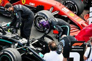 F1 Topic:タイヤバーストした最終周のハミルトンの冷静な対処法。タイムとエンジニア無線で振り返る