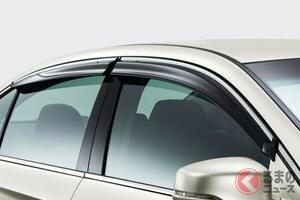 コロナ禍でドアバイザー装着率に変化あり? 車移動で注目の換気手段