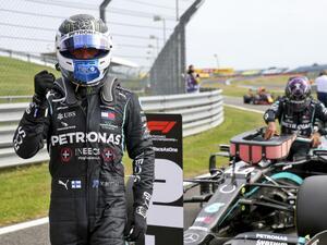 F1第5戦予選、ボッタスがポール、4番手フェルスタッペンは上位で唯一のハードタイヤスタートで逆転を狙う【モータースポーツ】