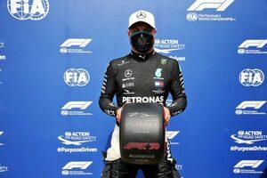 ボッタスがハミルトンを逆転しPP奪取。代役のヒュルケンベルグが3番手【予選レポート/F1 70周年記念GP】