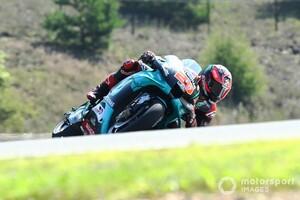"""【MotoGP】チェコGP初日首位のクアルタラロ、リヤタイヤのグリップに苦戦。ヤマハの""""持病""""が顕在化?"""