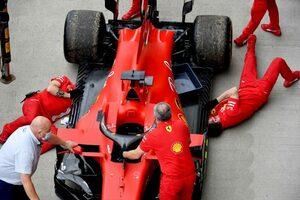 フェラーリのベッテル「突然エンジンが壊れた」ペナルティなしの交換へ【F1第5戦金曜】