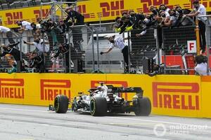 F1シュタイアーマルクGP決勝|ハミルトンが横綱相撲。レッドブル・ホンダのフェルスタッペン3位、メルセデスにワンツー許す