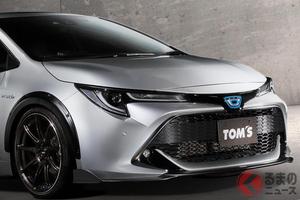 トヨタ「カローラスポーツ」がワイルドに変身! トムスのオーバーフェンダー発売