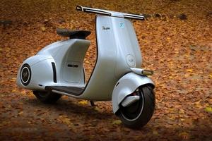 歴史の一部を現代のデザインと融合させて生まれた「ベスパ98電動コンセプト」