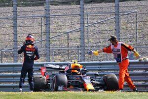 アルボン、クラッシュも0.09秒差の2番手「前進したのは間違いない」レッドブル・ホンダ【F1第4戦金曜】