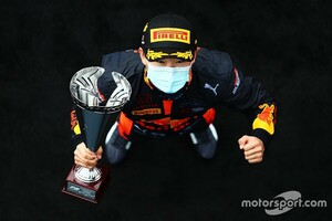 FIA F2初優勝の角田裕毅「僕にとっては大きな一歩」。レースペースには自信も、課題は予選結果?