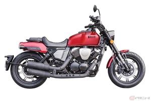 ブリットモーターサイクル「V-Bob 250」登場 同ブランド初のVツインエンジンを搭載