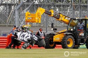 クビアト、イギリスGPでのクラッシュの原因はホイールの過熱。ピレリ「タイヤのビードが焼けた」と説明