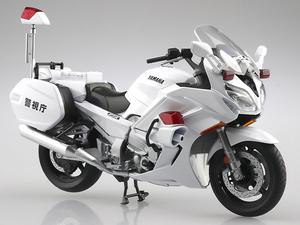 アオシマの1/12完成品バイクシリーズに「YAMAHA FJR1300P 白バイ(警視庁)」が登場! 発売は9月を予定
