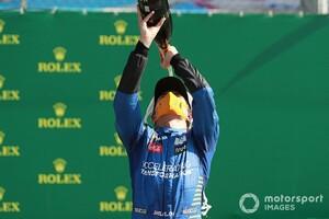 初表彰台ランド・ノリスの、衝撃的最終ラップ……マクラーレン「彼はドライバーとして明らかに成長した」