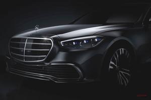 【W223】新型Sクラス、メルセデス・ベンツが予告 フロント・デザインが明らかに 年内登場へ